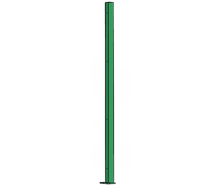 Poteau Droit 1500mm Coloris Vert Mai