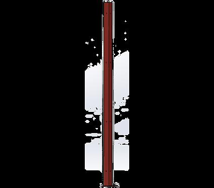 Poteau d'Angle 1500mm Coloris Rouge Poupre