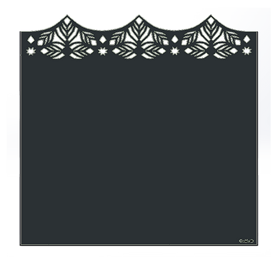 "Design ""MEDINA"" Semi-Ajouré 1750x1800mm"