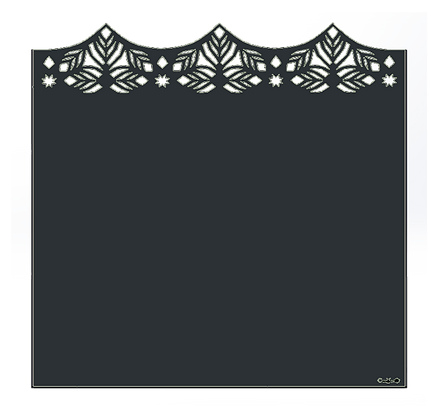 Design MEDINA semi-ajouré 1750 x 1800 mm