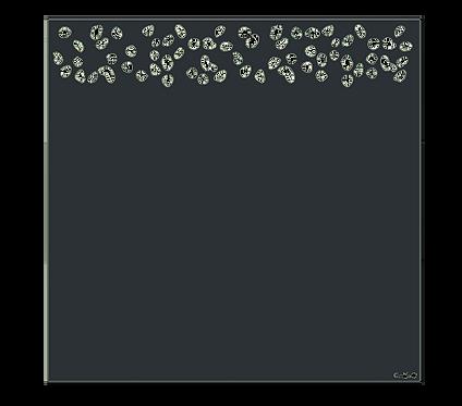 """Design """"CORAIL"""" Semi-Ajouré 1750x1800mm"""