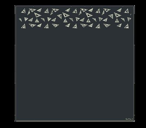 Design BRISURE semi-ajouré  1750 x 1800 mm
