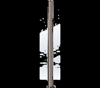 Poteau d'Angle 1800mm Coloris Beige Gris