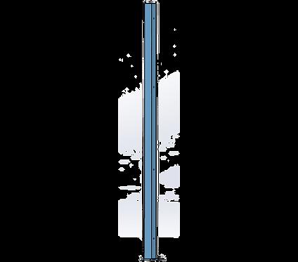 Poteau Gauche 1800mm Coloris Bleu Pastel