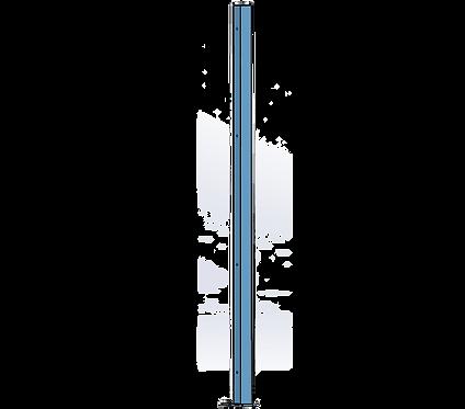 Poteau Droit 1500mm Coloris Bleu Pastel