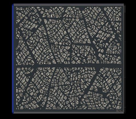 Design NERVURE semi-ajouré 1750 x 1800 mm