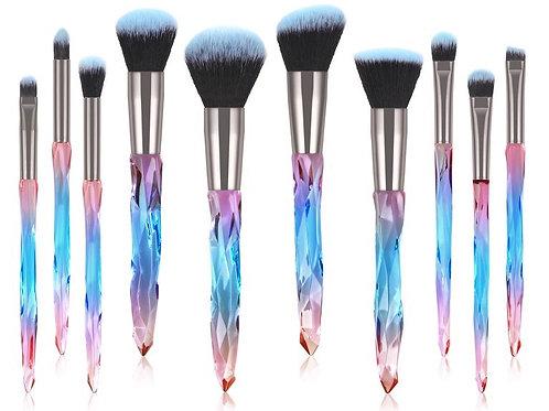 Makeup brush set (Blue&Pink)