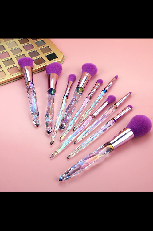 Makeup Brush set (Purple)