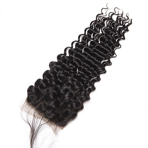 Brazilian Deep Wave 4*4 Lace Closure