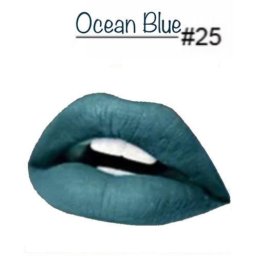 Ocean Blue - Matte Lipstick #25