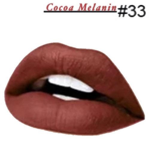 Cocoa Melanin - Matte Lipstick #33