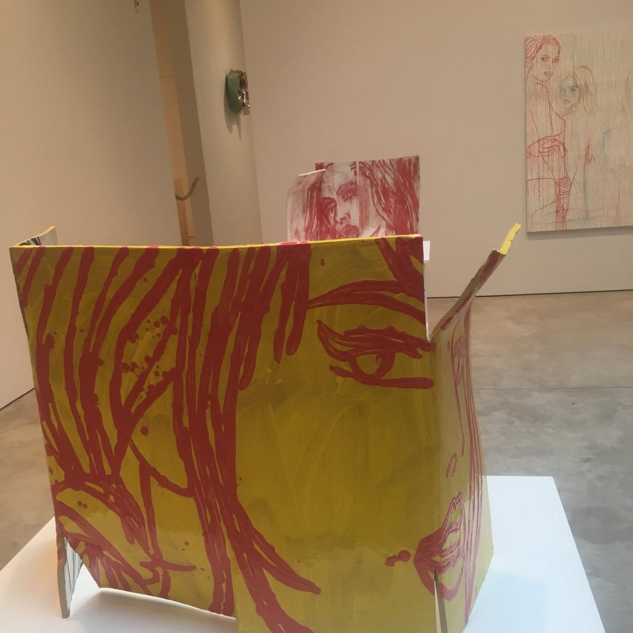The Red Portrait, 2017, Glazed ceram