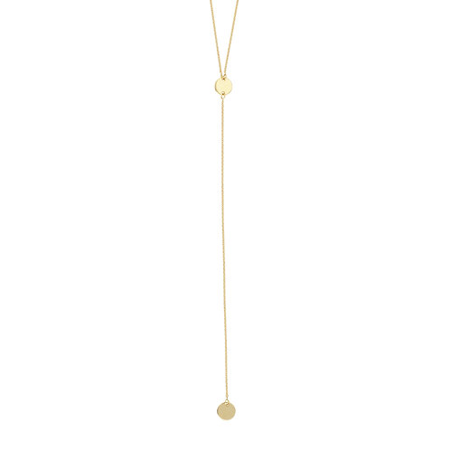 SMALL DISC LARIAT NECKLACE