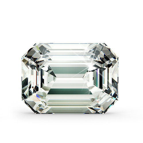 Emerald Cut Diamond 3.72cts