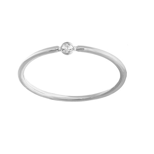 ROUND BEZEL SET DIAMOND RING