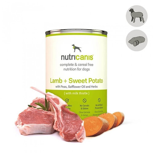 Nutricanis Hundefutter Lamm mit Süßkartoffeln