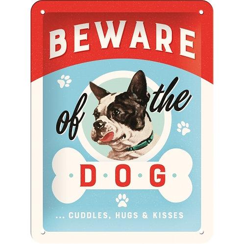"Nostalgic Art Pfotenschild Design Blechschild ""Beware of the Dog"""
