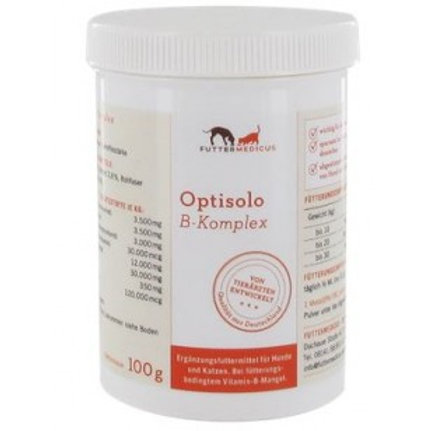 Futtermedicus Optisolo Vitamin-B-Komplex-Pulver 100g
