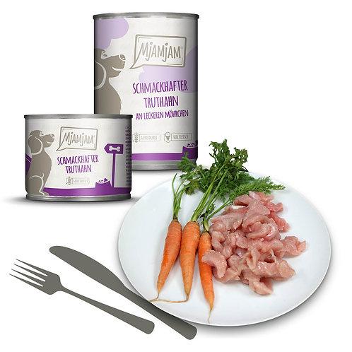 MjAMjAM Hundefutter Truthahn mit Karotten 400g