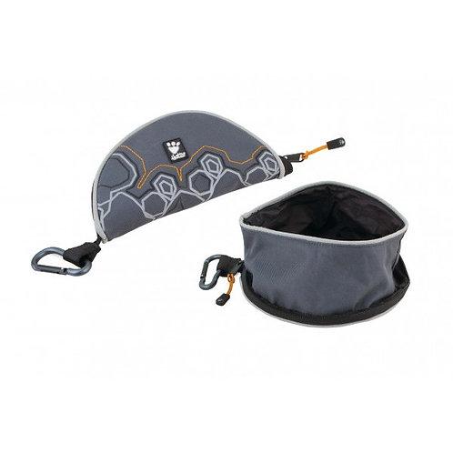 """Hurtta Trinknapf faltbar rund """"Fountain bowl"""" dunkelgrau"""