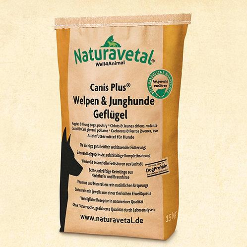 Naturavetal Canis Plus Welpen & Junghunde Trockenfutter Geflügel