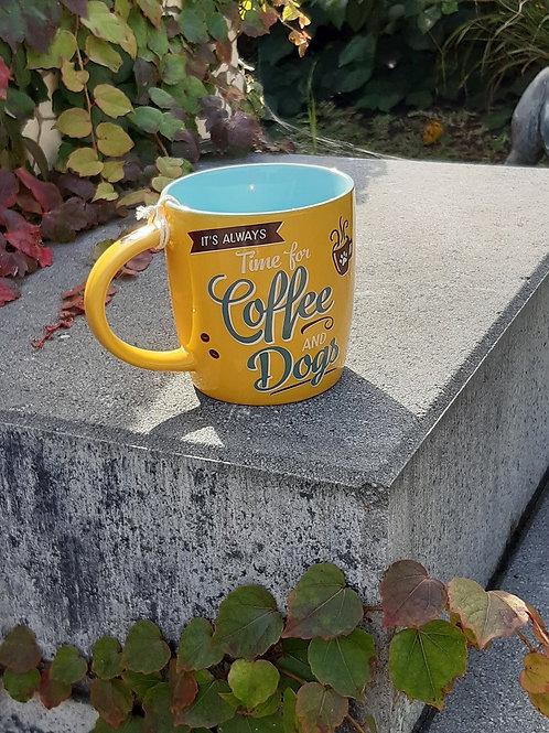 """Nostalgic Art Pfotenschild Design Tasse """"Coffee & Dogs"""""""