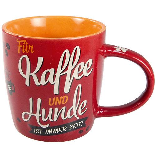 """Nostalgic Art Pfotenschild Design Tasse """"Kaffe und Hunde"""""""