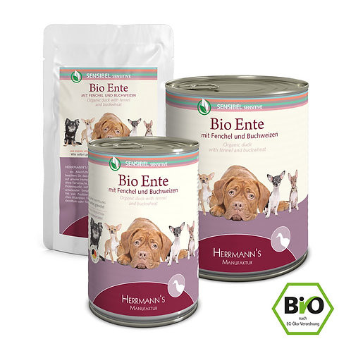 Herrmann´s Hundefutter Bio Ente mit Buchweizen & Fenchel 400g