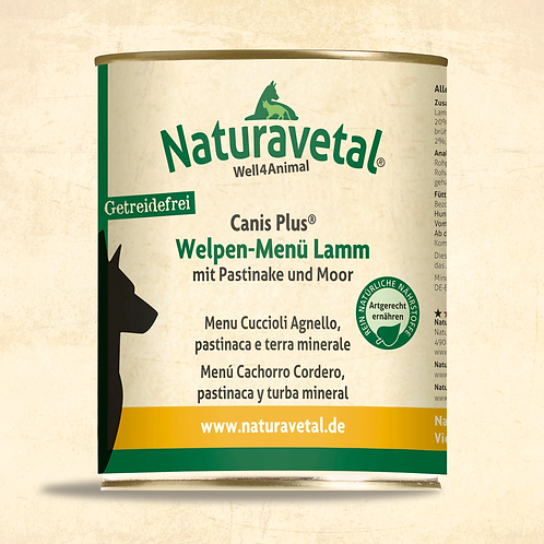 Naturavetal Canis Plus Welpe Menü Lamm 800g