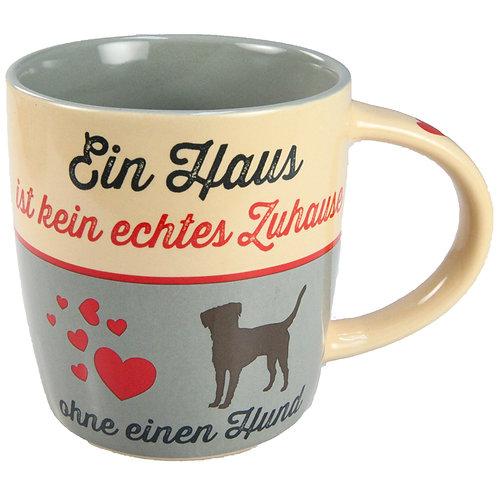 """Nostalgic Art Pfotenschild Design Tasse """"Ein Haus"""""""