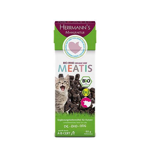 Herrmann´s Meatis Bio Rind für Katzen 80g