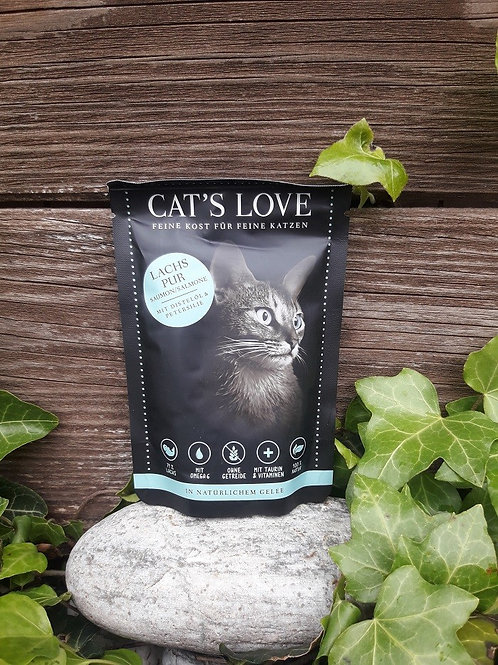 CAT´S LOVE Adult Lachs Pur mit Distelöl und Petersilie 85g