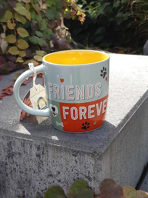 "Nostalgic Art Pfotenschild Design Tasse ""Friends Forever"""