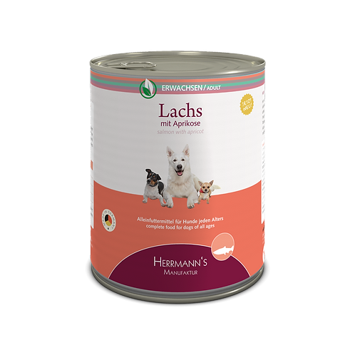 Herrmann´s Hundefutter Lachs mit Aprikose
