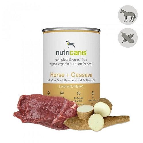 Nutricanis Hundefutter Pferd mit Cassava (Maniok)