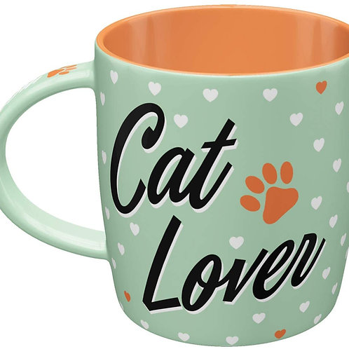 "Nostalgic Art Pfotenschild Design Tasse ""Cat Lover"""