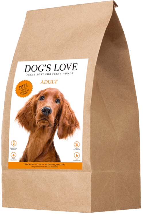 DOG´S LOVE Adult Trockenfutter Pute 2kg
