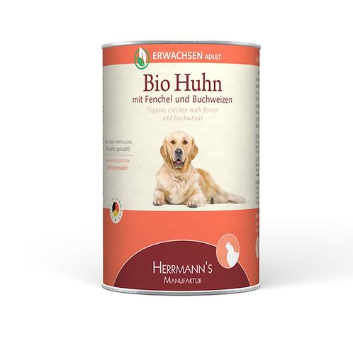 Herrmann´s Hundefutter Bio Huhn mit Fenchel und Buchweizen 400g