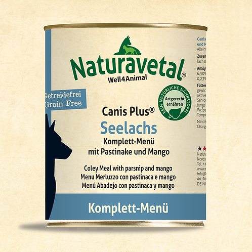 Naturavetal Canis Plus Seelachs Komplett Menü 800g