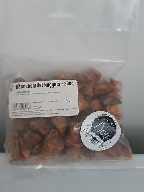 Mr. & Mrs. Dog Nasch Markt Hähnchen Filet Nuggets 200g
