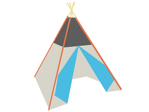 Build your own Teepee around top and double-sided doors No window