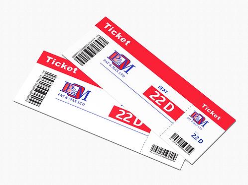"""Tickets: 3"""" x 4"""""""