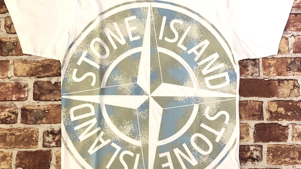 Stone island large logo tee | L