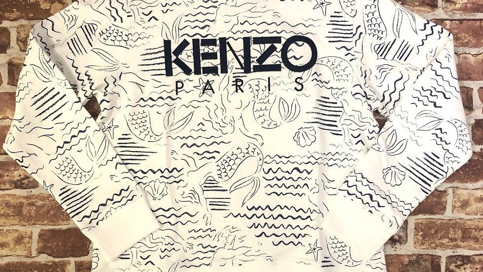 Kenzo 'wavey' crewneck sweater | XL