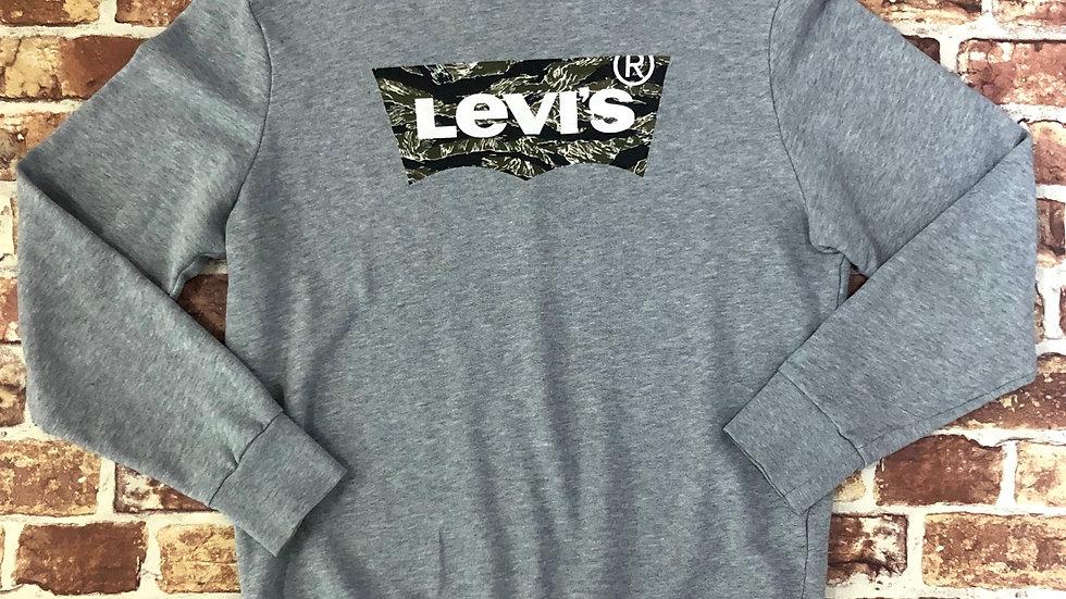 Levi's camo logo crewneck sweatshirt | M