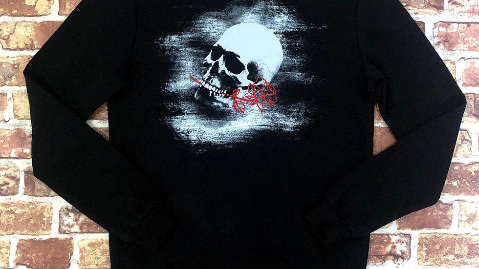 Bolongaro Trevor Skull & Rose crewneck sweater | S