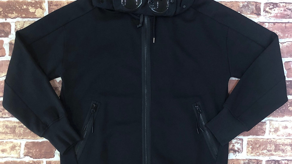 CP Company zip hoodie with goggled hood insert | L