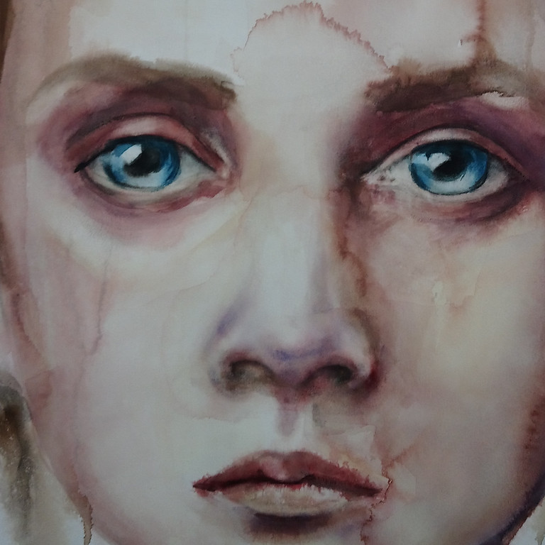 Large Watercolour Faces - SOLD OUT