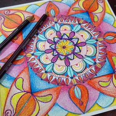 #colouredpencil #mandala.jpg