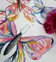 gouache butterflies